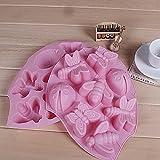 joyliveCY 1 Stück 3D Insekt Tray Silikon Kuchen Hohlraum Kinder Schokolade Schimmel Eis Fondant Baking Mould zufällige Farbe