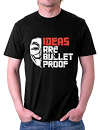 The Souled Store IDEAS ARE BULLETPROOF Movie Printed Premium BLACK Cotton T-shirt for Men Women and Girls
