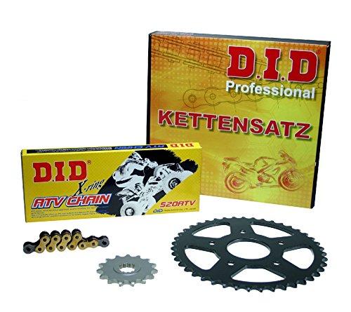 Kettensatz / Kettenkit Yamaha YFM 700 R Raptor, 2006-2013, Typ AM07W, DID X-Ring (ATV gold) verstärkt