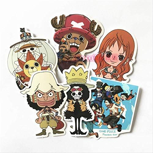 Anime One Piece Cartoon Cute Sticker Monopatín Plano