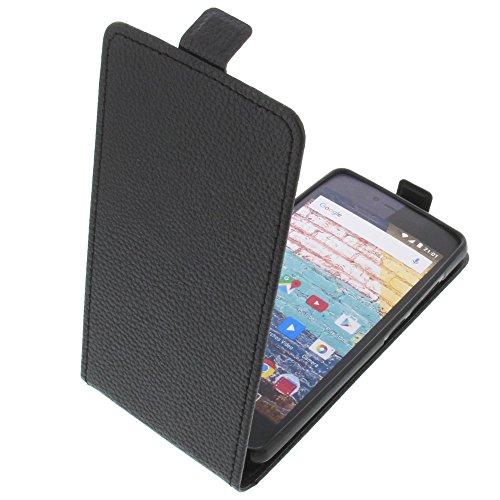 foto-kontor Tasche für Archos 50e Neon Smartphone Flipstyle Schutz Hülle schwarz