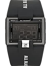 All Blacks - 680128 - Montre Homme - Quartz Digital - Cadran LCD - Bracelet Plastique Noir