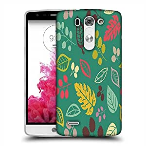 Snoogg Colorful Leaves Blue Designer Protective Phone Back Case Cover For LG G3 BEAT