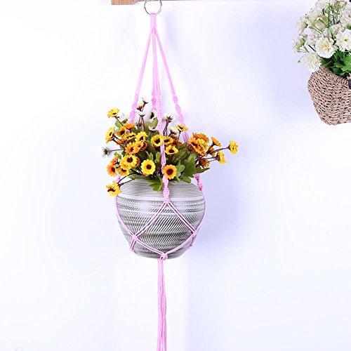 b417c0b4a2e Demiawaking macramé de cintre Intérieur ou extérieur à suspendre Pot de fleurs  Panier support Cintre Corde