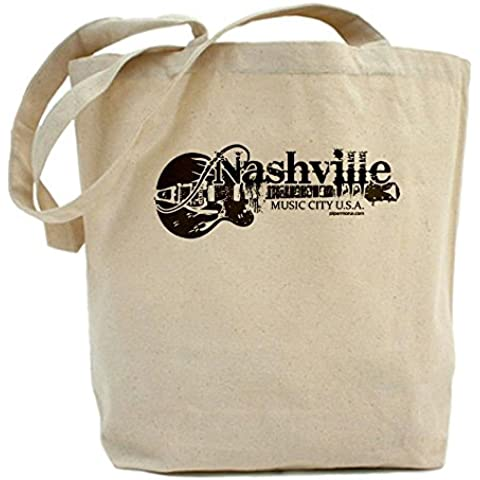 CafePress–Nashville Tote Bag–Borsa di tela naturale, panno borsa per la spesa