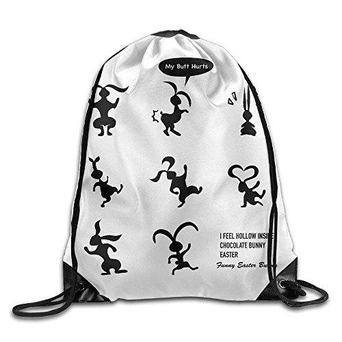 nbeutel Rucksack Hip Hop My Butt Hurts–What Ostern Schokolade Bunny Design Print Rucksack Schulter (Kinder Bunny Schuhe)