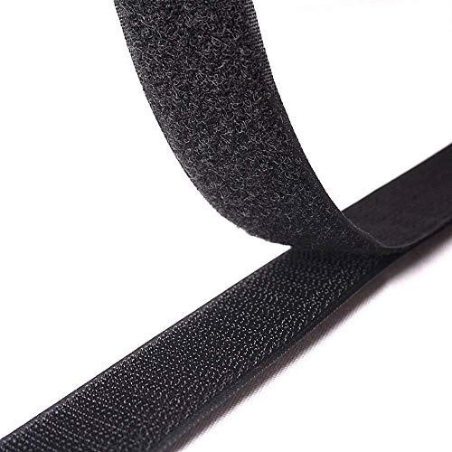 (Breite 16mm bis 100mm, Länge 25Meter/Rolle) schwarz Haken- und-Loop Tape-Rolle/Sew On Tape (nicht selbstklebend) 100mm x 25Meters -
