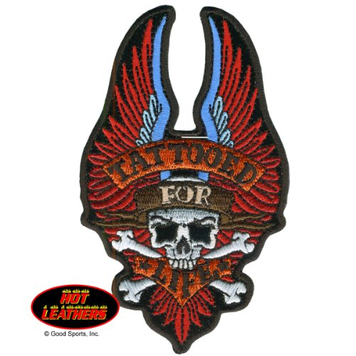 "TATTOOED FOR LIFE, with Skull and Wings, Iron-On / Saw-On, Heat Sealed Backing Rayon BIKER PATCH - 3"" x 5"""