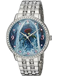 Disney Women's Beauty' Quartz Metal and Alloy Casual Watch, Color:Silver-Toned (Model: WDS000317)
