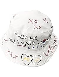 9b27ae71c4b AJON Cotton Letters Bucket Sun Hat Spring Summer Visor Protection Hats  Graffiti Harajuku Fisherman Cap For