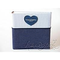 Hochzeitsalbum mit Herz dunkelblau