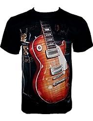 Rock Chang T-Shirt * Gibson Guitar * Les Paul * Guitare * Noir R711