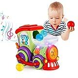 VATOS Baby Spielzeug Eisenbahn Zug - Elektrischer Musikzug mit bewegenden Farbbällen - fährt automatisch - Lernspielzeug ab 18 Monaten für Babys und Kleinkinder