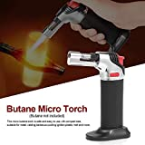 1pcs Adjustable Flame Butane Micro Torch Refillable Gas Cigar Lighter Ignition Blow Torch