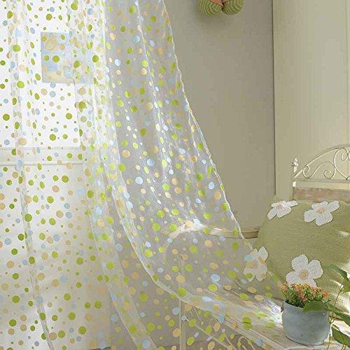 Vkospy romantico rotondo dot tulle voile tenda della finestra pannello di drape mantovane sciarpa sheer