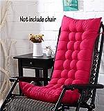 Cojín para silla de respaldo alto, para casa, oficina, viscoelástico, con botones, rojo rosado, 128*48*8cm
