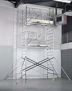 AluMark échafaudage en aluminium panneaux rollrüstung rollgerüst 3,85 m aH toujours-extensible jusqu'à 7,5 m-qualité professionnelle