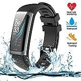 Fitness Armband, Fitness Tracker mit Pulsmesser, Aktivit?tstracker, Herzfrequenzmonitor, Farbbildschirm Bluetooth Smart Armbanduhr Schrittz?hler, Smart Watch IP67 Wasserdicht SchlafMonitor (G26-B)
