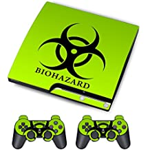 PS3 Skins Jeux PS3 Stickers Console Sony PS3 Vinly Decals for Playstation 3 Slim Système - Biological Harzard