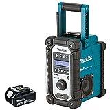Makita DMR109 10.8v-18v LXT/CXT LI-ion Job Site Radio With BL1830 3Ah Battery