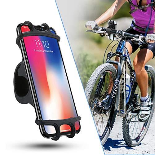 dyhalter 360° Drehung Silikon Fahrrad Motorrad Lenkerhalterung, Universal Motorrad Handyhalter, wasserdicht Handyhalter für iPhone, Android-Smartphone von 4,0 Zoll bis 6,5 Zoll ()