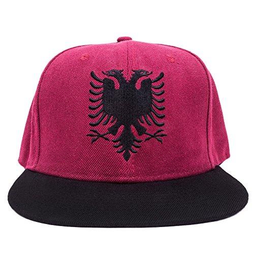 Movoja Albanien Albania Snapback Cappy Caps Mütze Aufschrift Beanies Basecap Shqipëri Shqipëria