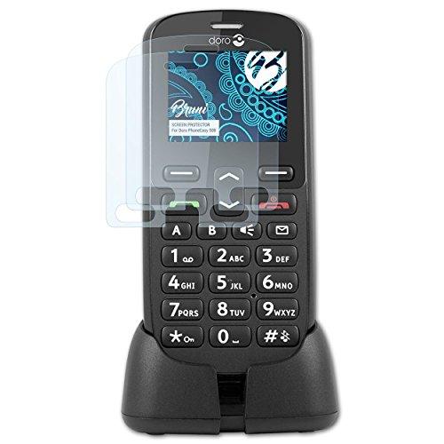 Bruni Schutzfolie kompatibel mit Doro PhoneEasy 508 Folie, glasklare Bildschirmschutzfolie (2X)