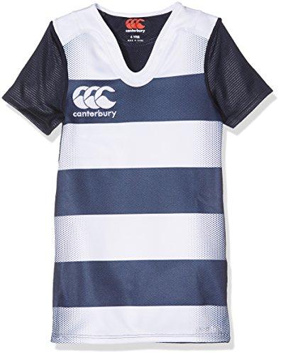Canterbury Gestreiftes, herausforderndes Vapodri-Trikot für Rugby-Training der Knaben 12 Jahre Navy