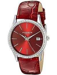 Akribos XXIV Reloj con movimiento cuarzo japonés  Rojo 34 mm