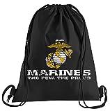 T-Shirt People US Marine Corps USMC Sportbeutel - Bedruckter Beutel - Eine schöne Sport-Tasche Beutel mit Kordeln
