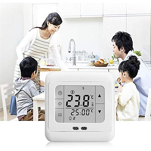 Kardu.C Thermostat, CE 16A Touchscreen LED programmierbare Heizungsthermostat Smart Home -