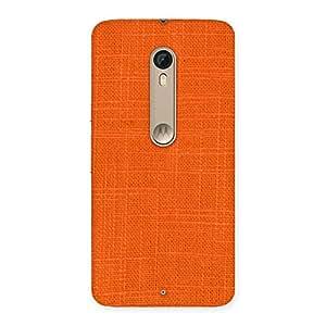 Cute Orange Texture Squary Back Case Cover for Motorola Moto X Style