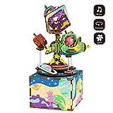 JXJ Madera Caja De Música-Bricolaje Artesanía De Madera Decoración Casera-3D Rompecabezas De Madera-Navidad/Cumpleaños/Día De San Valentín Regalo Creativo