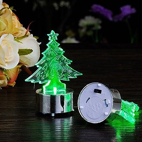 Lampada candela decorativa di Natale elettrica candela luci natale