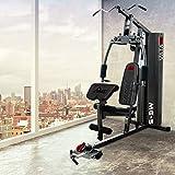 AsVIVA Multi-Gym Power Kraftstation MG5 inkl. 90KG Gewichtsblöcke | der Krafttrainer mit Butterfly, Latzug und viele mehr – Fitness-Station Muskeltrainer wie im Fitnessstudio | Power Workout