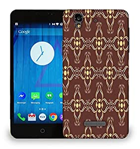 Snoogg Brown Pattern Printed Protective Phone Back Case Cover For Micromax Yu Yureka