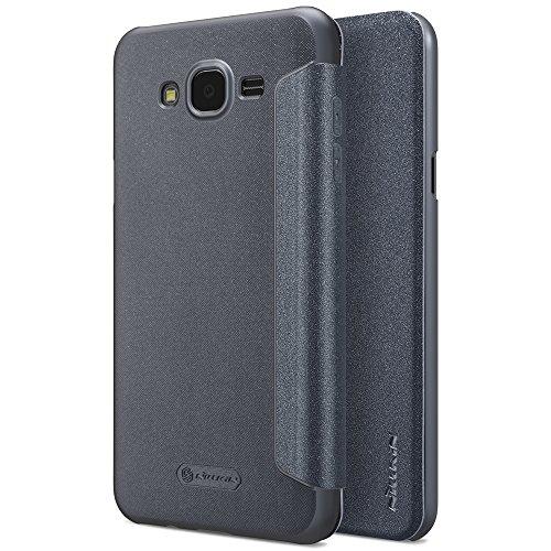 SPAK Samsung Galaxy J7 Nxt/Core Hülle,Gute Qualität Ultra Slim PU Leder Flip Case Cover für Samsung Galaxy J7 Nxt/Core (Schwarz) (Gutes Leder)