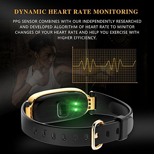 Fitness Tracker For Women Heart Rate Monitors Step Counter Activity Trackers Smart Bracelet Smart Watch IP67 Waterproof Bluetooth Pedometer Wristband Sleep Monitor For Android IOS Smartphone