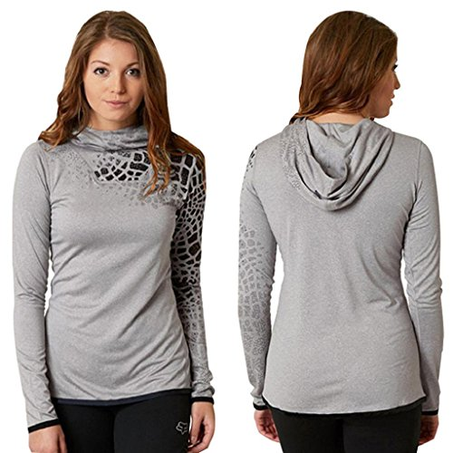 Bekleidung Longra Damen Neue Leopard Stehkragen Casual Langarm Pullover lange Tops Shirt Gray