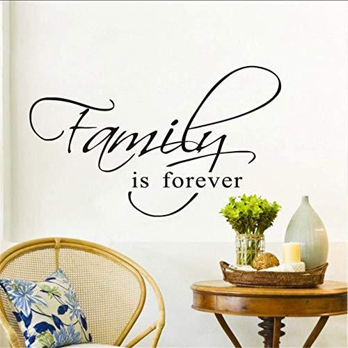 (Zybnb Home Decor abnehmbare Tapete für Wohnzimmer Familie ist für immer Vinyl Wandaufkleber Kunst Wandtattoo für Schlafzimmer Waren Großhandel)