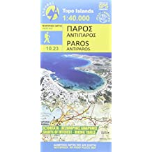 Paros/Antiparos 1 : 40 000: Topografische Wanderkarte 10.23. Griechische Inseln - Ägäis, Kykladen (Topo Islands)