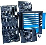 Blue Premium Edition Chariot à outils–Chariot avec 7tiroirs–6rembourré avec outils