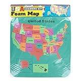 FindingKing 48 USA foam map set