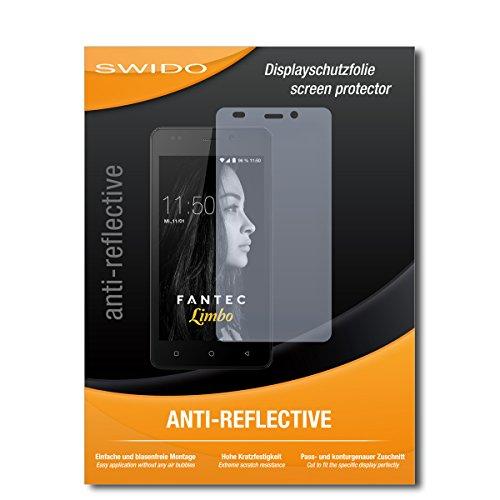 SWIDO® Schutzfolie für FANTEC Limbo [2 Stück] Anti-Reflex MATT Entspiegelnd, Hoher Härtegrad, Schutz vor Kratzer/Displayschutz, Displayschutzfolie, Panzerglas-Folie
