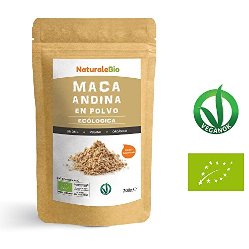 Maca Andina Ecológica en Polvo [ Gelatinizada ] 200g | Organic Maca Powder Gelatinized. 100% Peruana, Bio y Pura, extracto de raíz de Maca Organica. Superfood rico en aminoácidos, fibras, vitaminas.