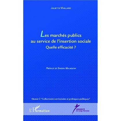 Les marchés publics au service de l'insertion sociale: Quelle efficacité ?
