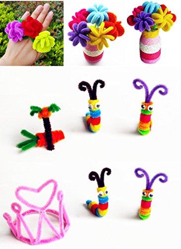 Jndks DIY enfants Educational Toys. chenille tiges en peluche Twisted Barre/mousse Boule/yeux/pompons