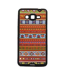 Exclucive Premium Rubberised Back Case Cover For Samsung Galaxy Core Prime SM-G360 - Multicolor Craft Design Pattren 7
