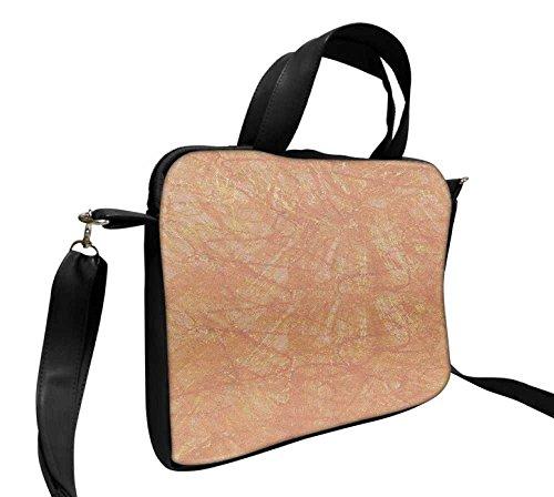 Snoogg Wand Aufkleber Designer, 35,6cm Zoll auf 36,8cm Zoll zu 37,1cm Zoll Kunstleder Laptop Notebook Schuber Sleeve, der Fall mit und Schultergurt für MacBook Pro Acer Asus Dell HP Sony Toshiba (Laptop-aufkleber Für Hp)