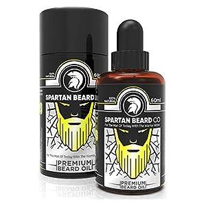 Spartan Beard Co Bartöl | 7 Hochwertige Ätherische Öle Für Die Gesundheit Von Bart, Gesicht Und Haut | Bart-Conditioner & Bart-Wachstumsserum | Treten Sie Der Elite-Methode Der Bartpflege Bei
